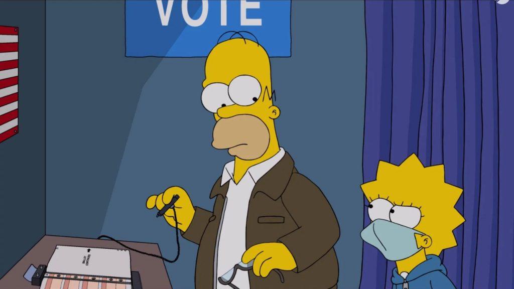 Simpsons politieke kleur