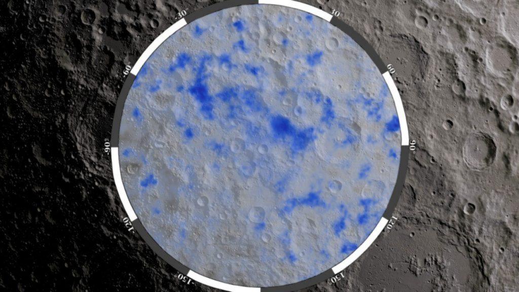 Water op maan NASA