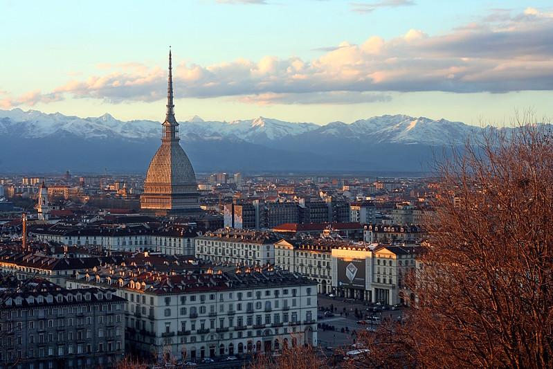Une vue de la ville de Turin, en Italie