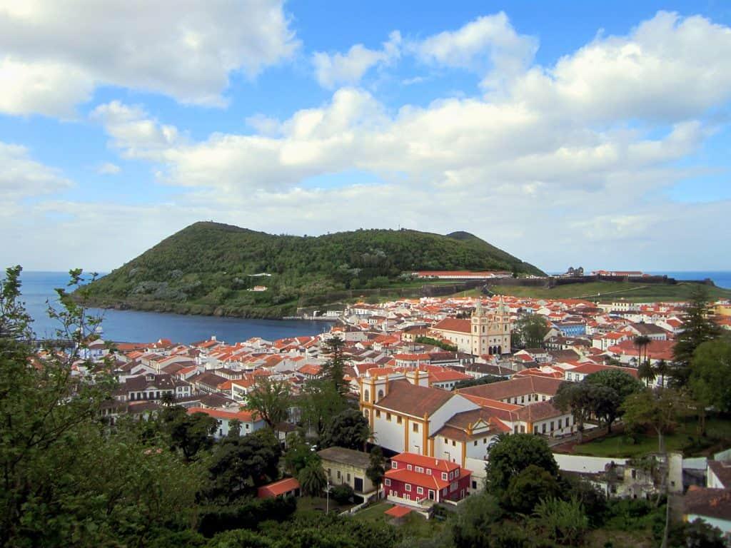 Beeld van de stad Angro do Heroismo in Portugal.