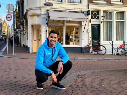 Nederlandse boodschappenbezorger op weg naar België