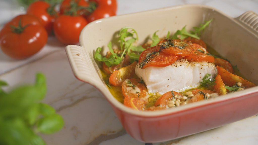 RECEPT Tomaten met kabeljauw à la Sandra Bekkari
