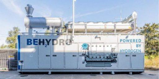 Belgische joint venture stelt industriële motoren voor die zowel op waterstof als op diesel draaien