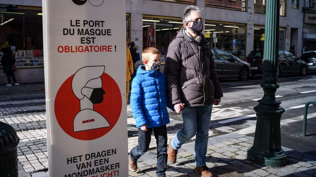 Brussel mondmasker coronavirus