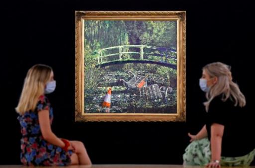 'Show me the Monet': le tableau de Banksy a fait grimper les enchères de Londres