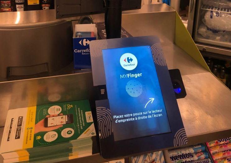 MyFinger sera à l'essai début d'année prochaine dans une enseigne bruxelloise (Carrefour)