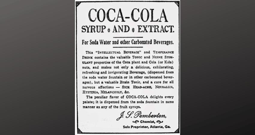 Une recette de Coca-Cola, autrefois destinée à être un médicament.