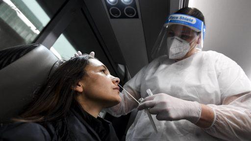 Coronavirus test bus België