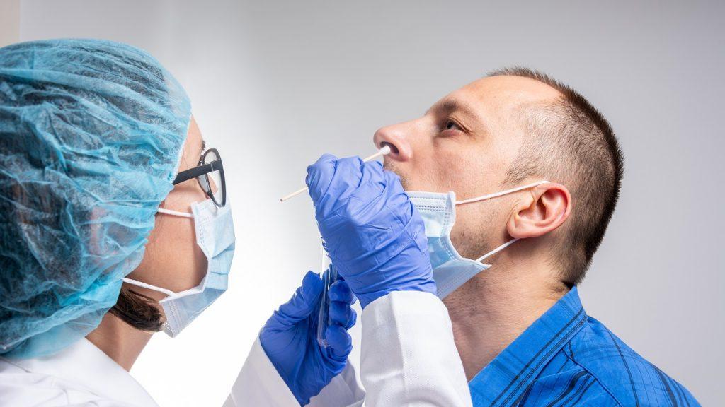 Coronavirus testing man
