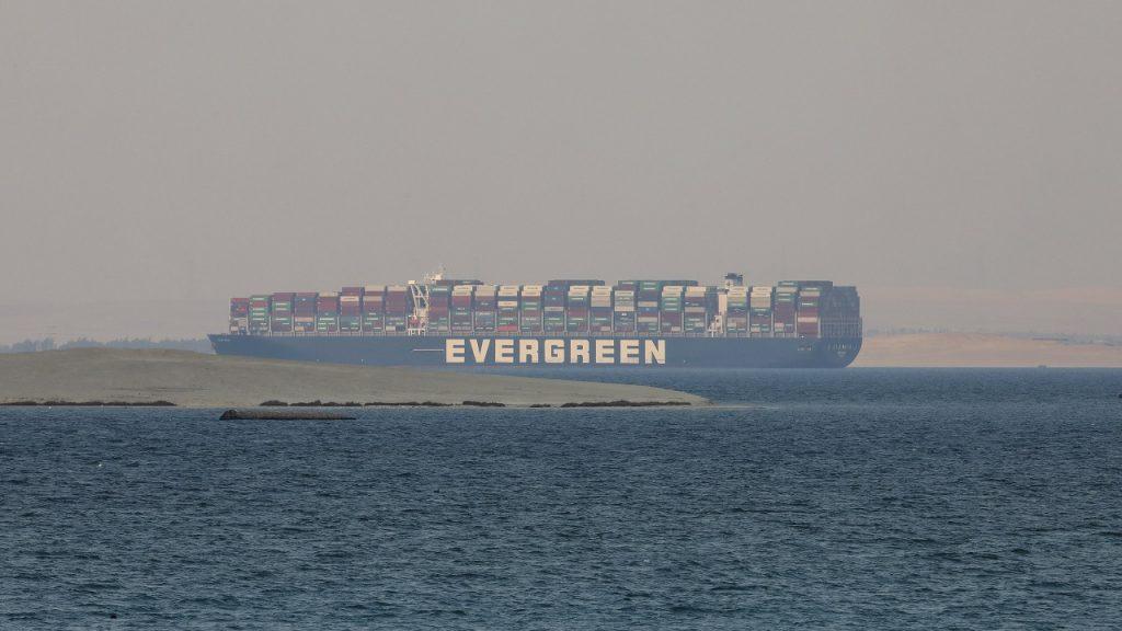 Ever Given Suezkanaal Great Bitter Lake