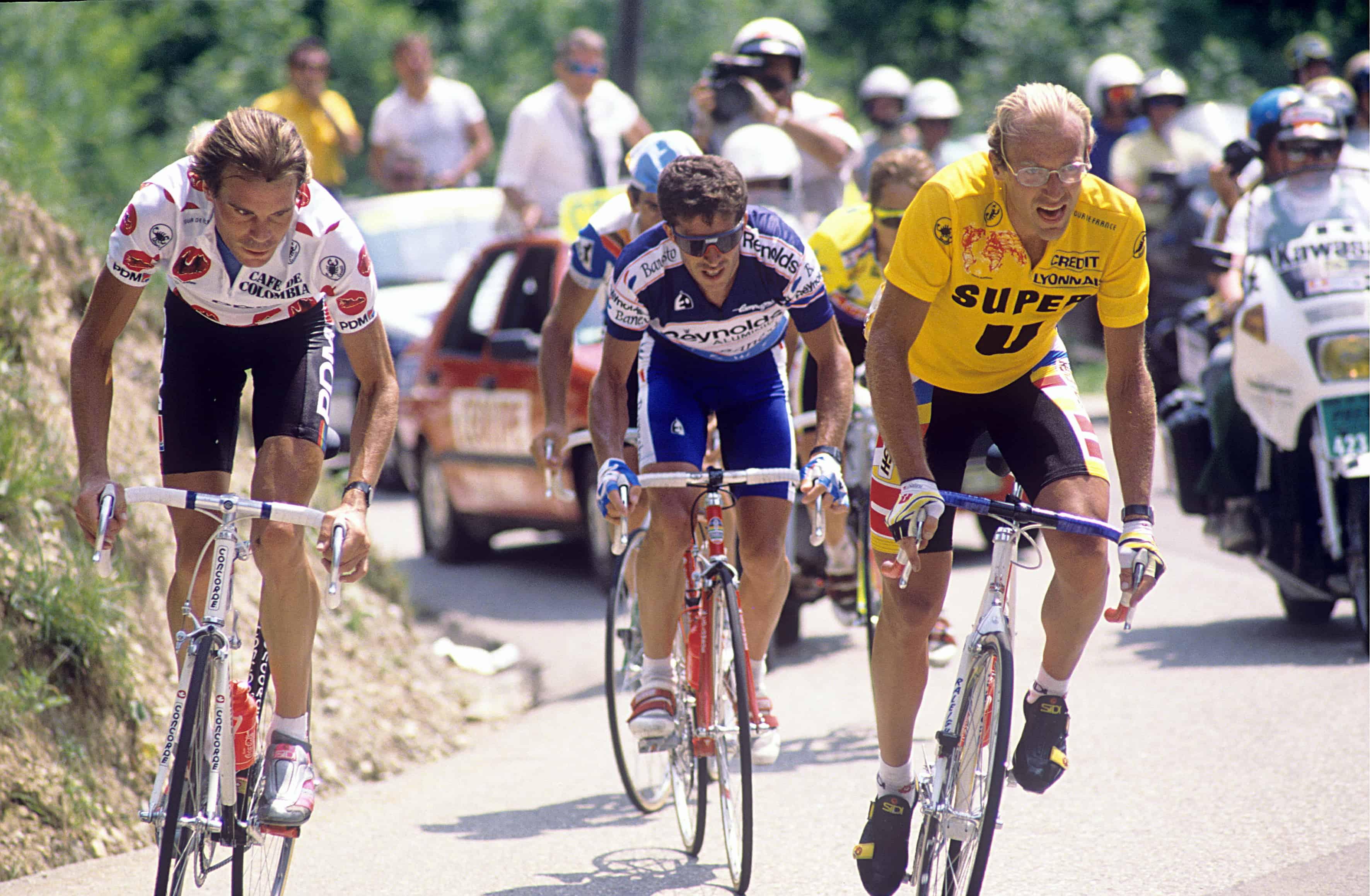 Laurent Fignon a perdu le Tour avec la moindre différence: 8 secondes.
