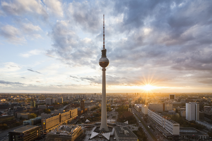 La ligne d'horizon de la capitale allemande, Berlin