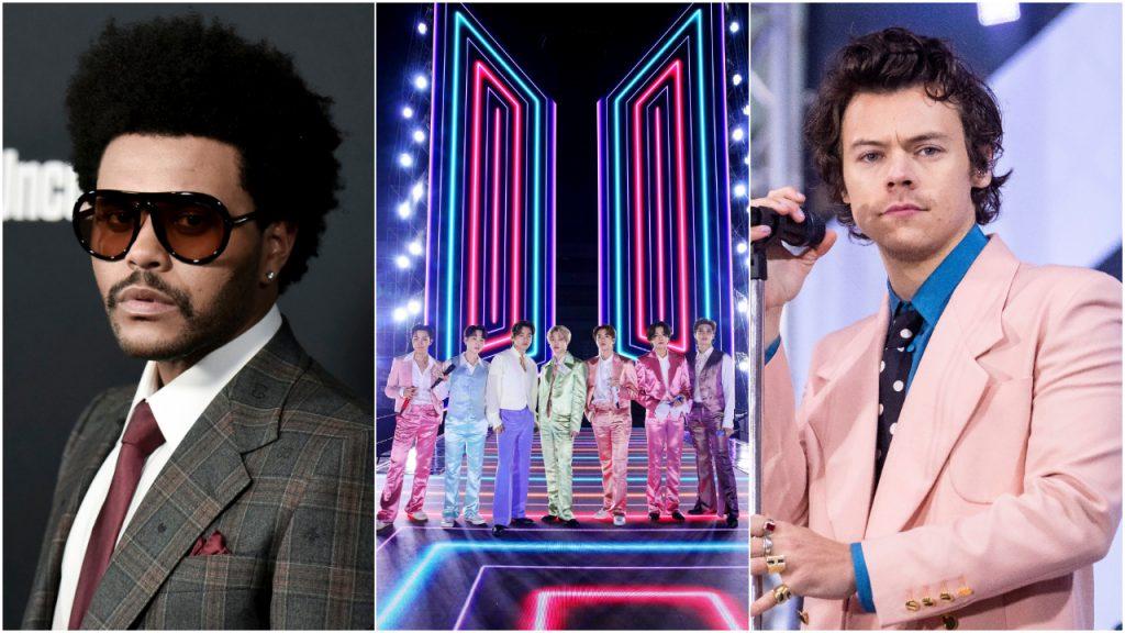 Grammy's The Weeknd, BTS, Harry Styles