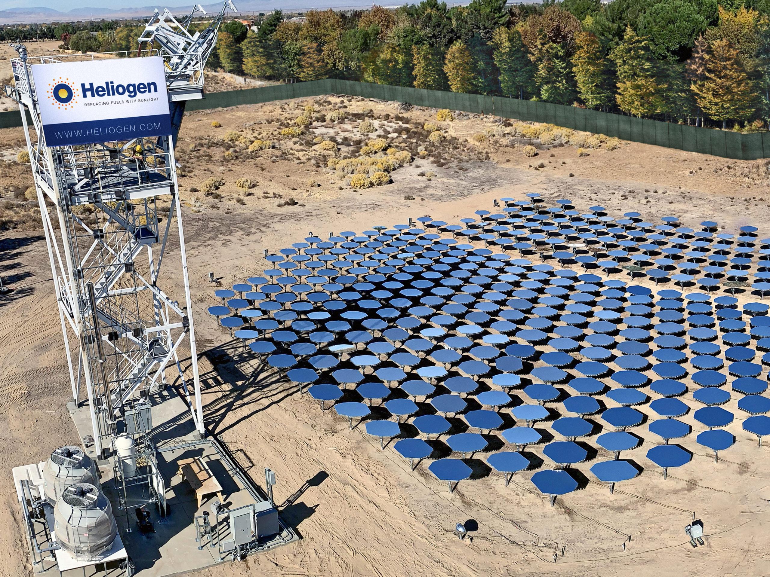 Heliogen utilise combine l'utilisation de miroirs et d'intelligence artificielle pour concentrer la chaleur solaire