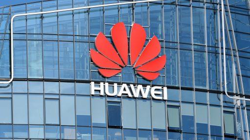 Huawei logo gebouw