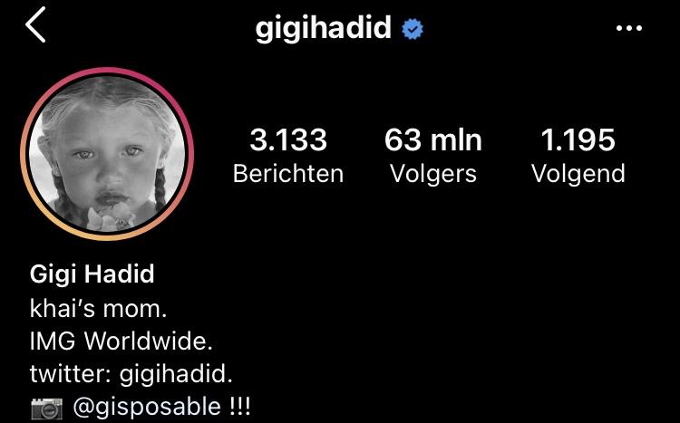 Gigi Hadid Khai