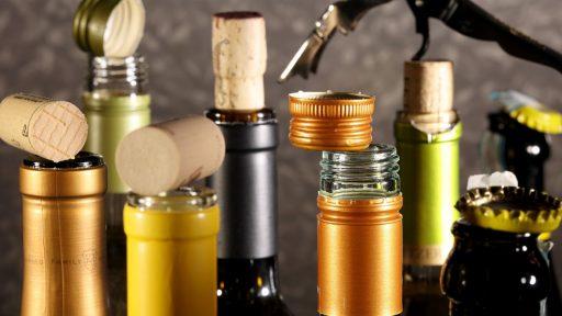 verschillende soorten kurken wijnfles