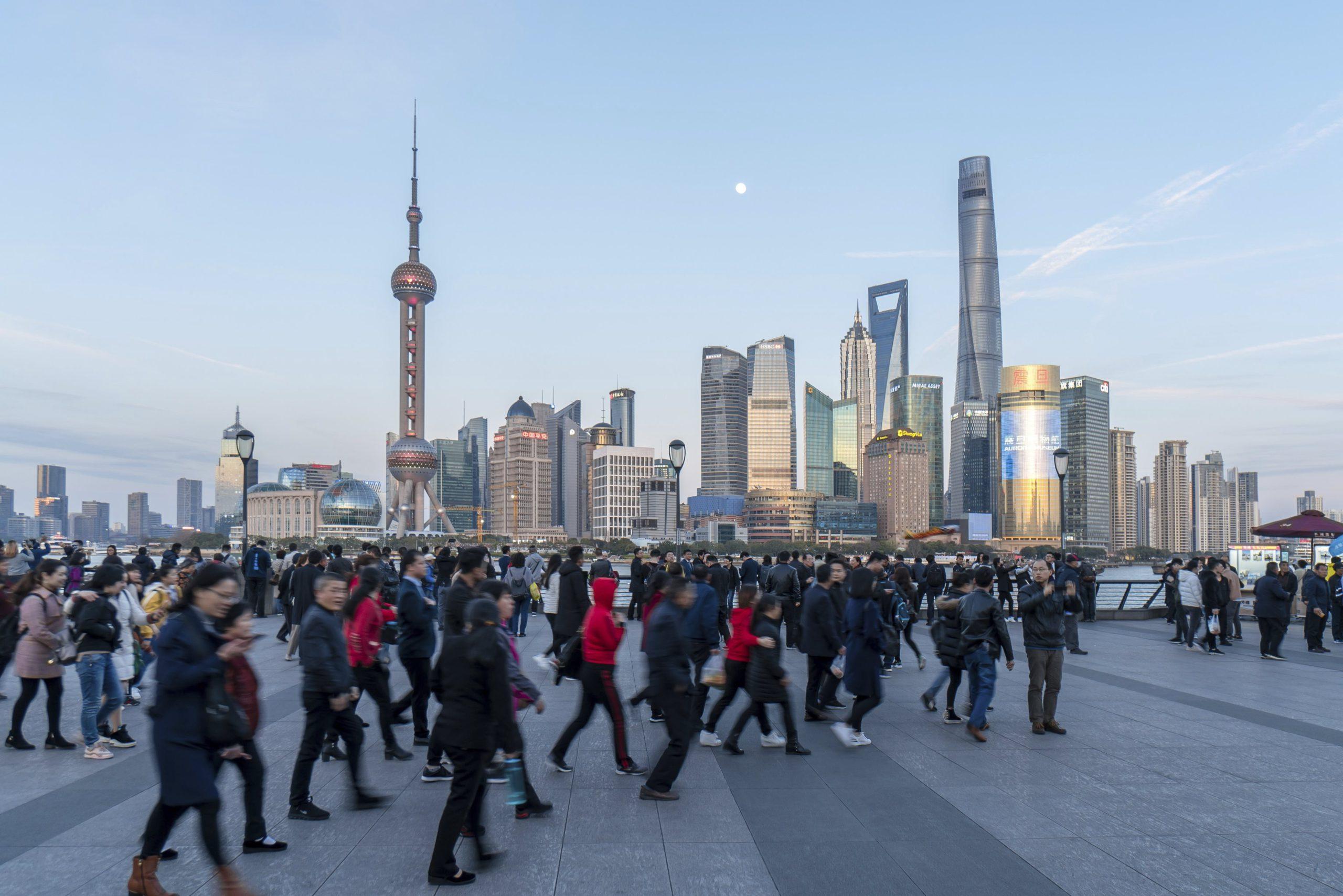 Une vue de la ville de Shaghai, en Chine