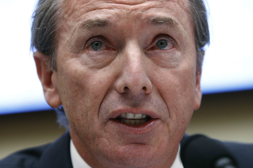Morgan Stanley-CEO James Gorman heeft ook al in 2015 een groot deel van het personeelskorps ontslagen. - Patrick Semansky/AP/Isopix