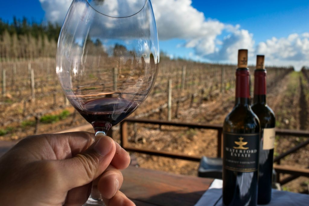 Wine tasting in Stellenbosch, Zuid-Afrika