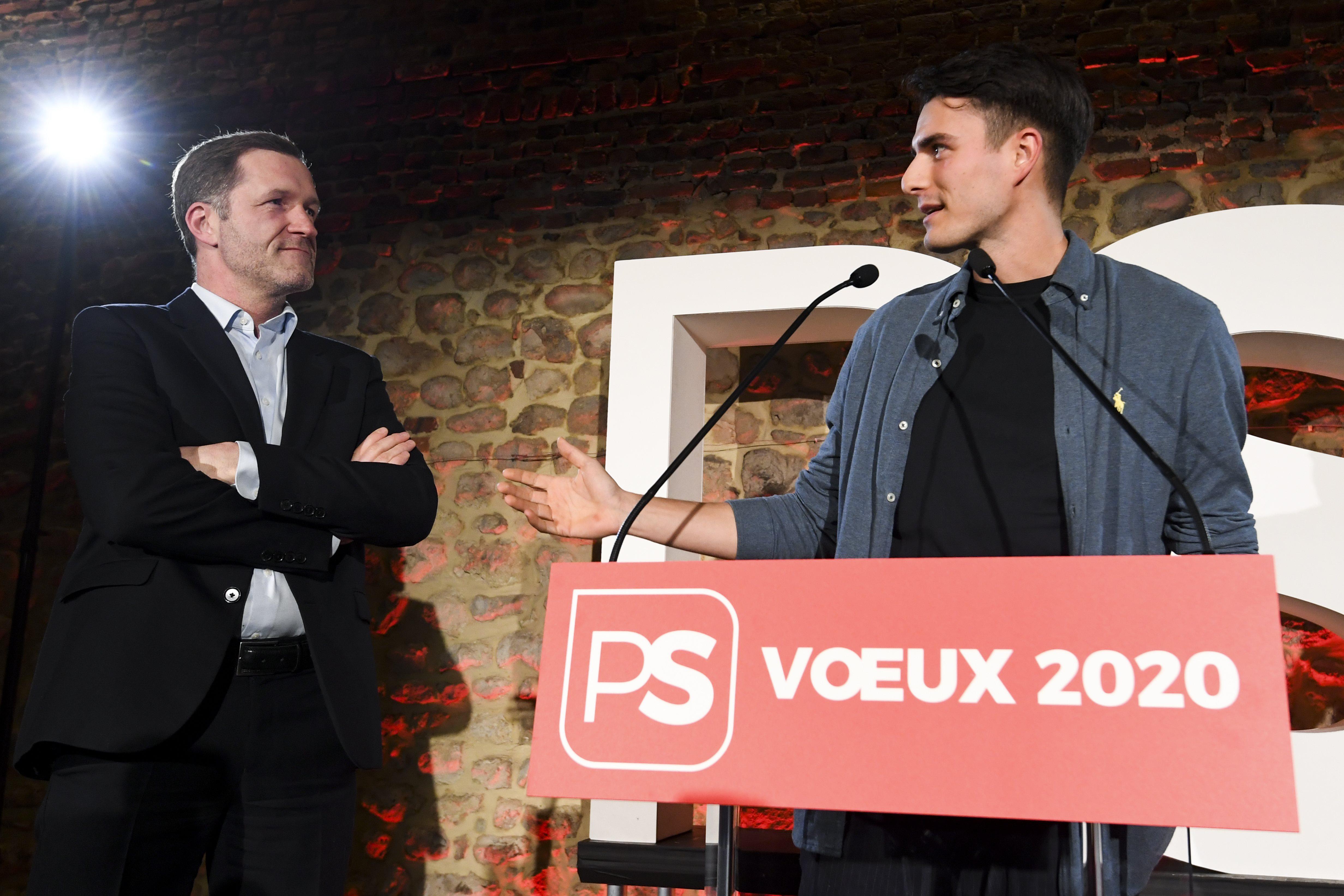 Paul Magnette (PS) en Conner Rousseau (sp.a)