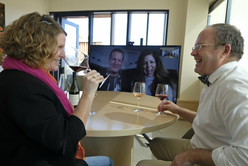 online wijntasting in Calfiornië