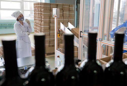 Wijnbottelarij in Rusland