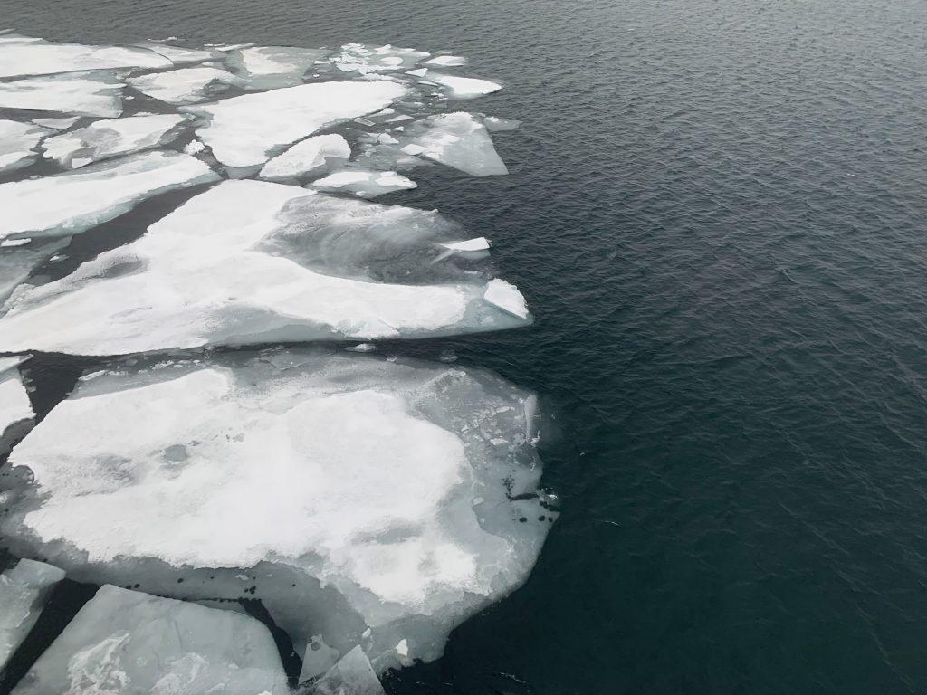 De ijsgrens op de Laptevzee