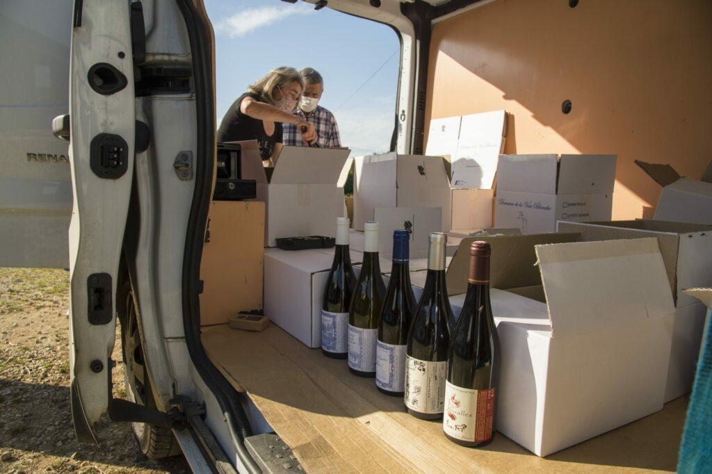wijn levering