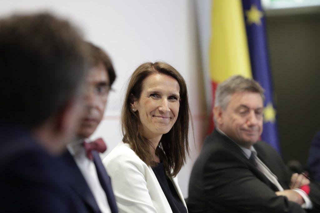 Premier Sophie Wilmès (MR). - Isopix