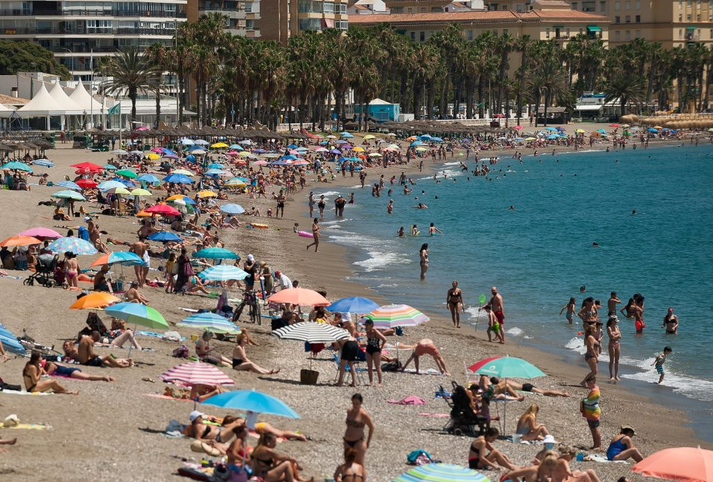 Hittegolf in Malaga, strand