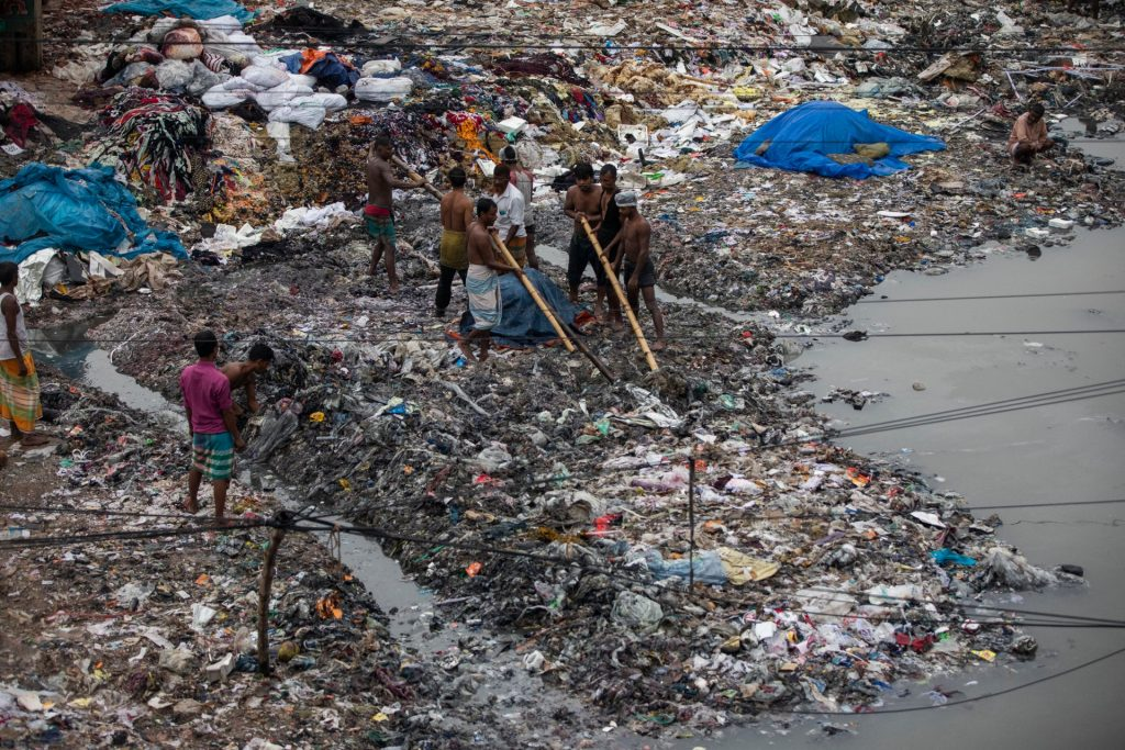 Plastic afval in Bangladesh