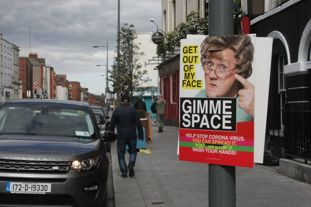 COVID Posters In Dublin, Ireland