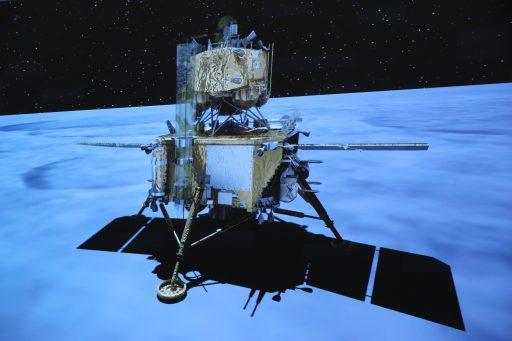 Chinese maanlander Chang'e 5 veilig gearriveerd op de verre kant van de maan