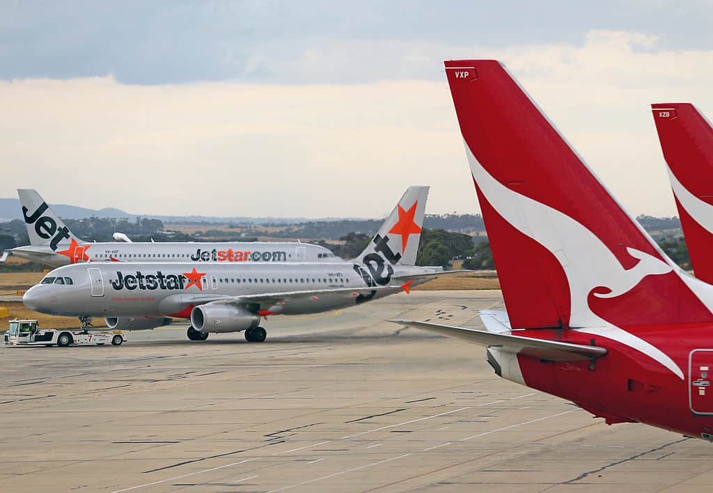 Un avion de Jetstar Airways au décollage