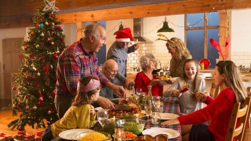 Kerstmis Familie Vieren