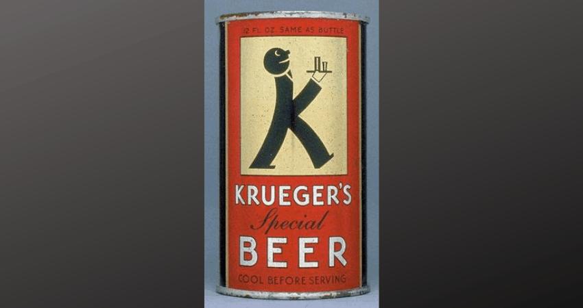 Een oud blikje Krueger-bier.
