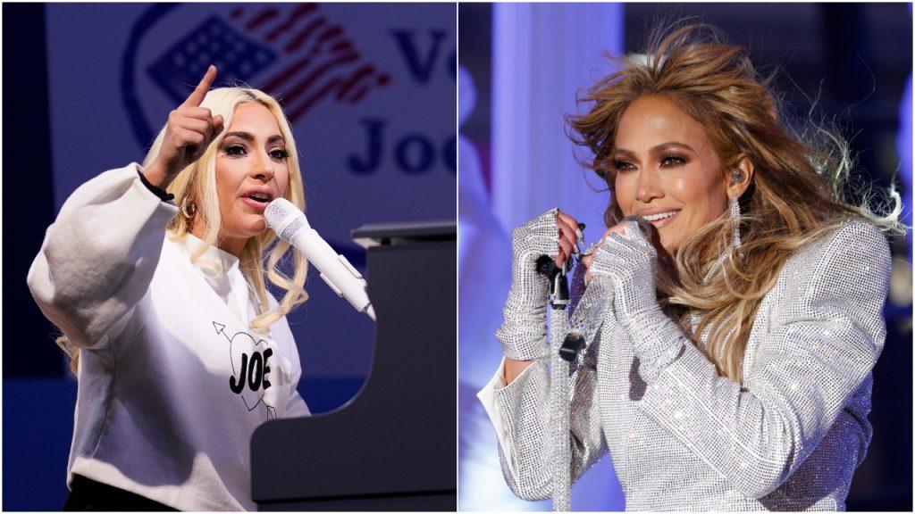 Lady Gaga Jennifer Lopez Biden
