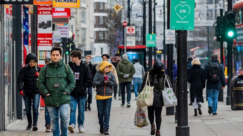 Londen shoppen coronavirus