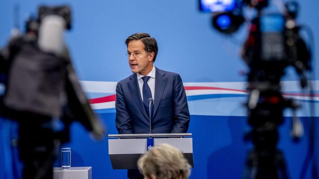 Mark Rutte persconferentie