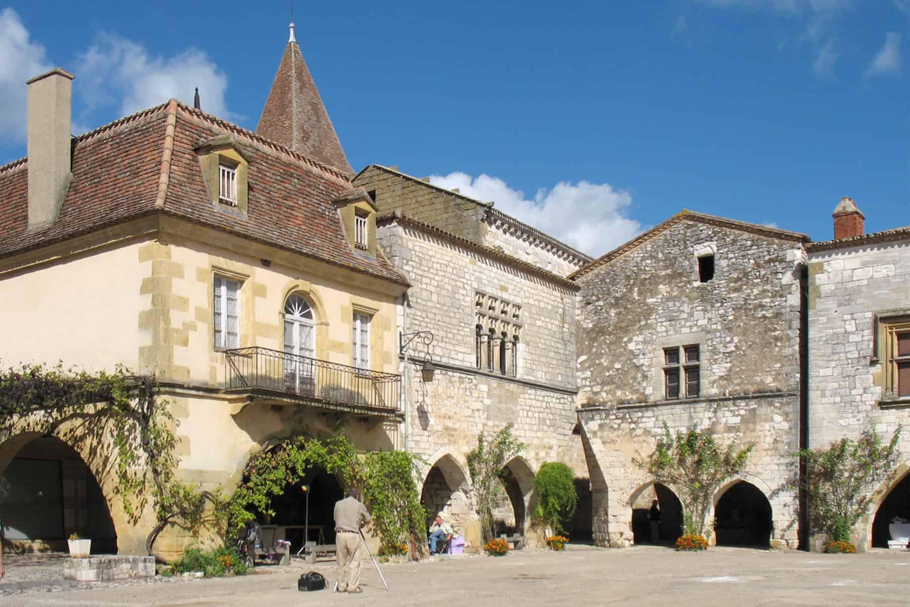 Charmante gebouwen in Montpazier.