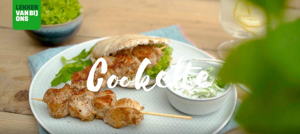 Heerlijk fris: kippenspiesjes met seldertzatziki