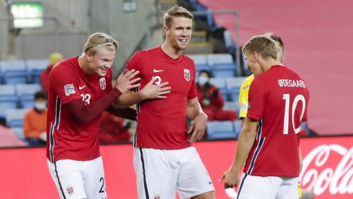 Noorse nationale voetbalploeg Haaland Odegaard