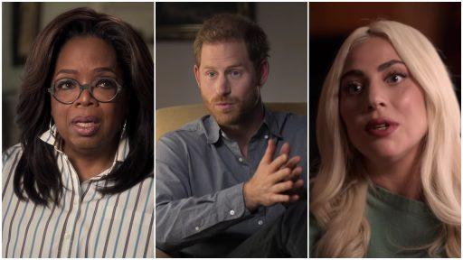 Oprah Winfrey, prins Harry en Lady Gaga