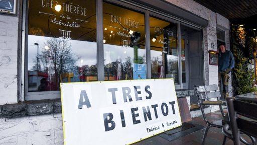 Restaurant België coronacrisis lockdown gesloten