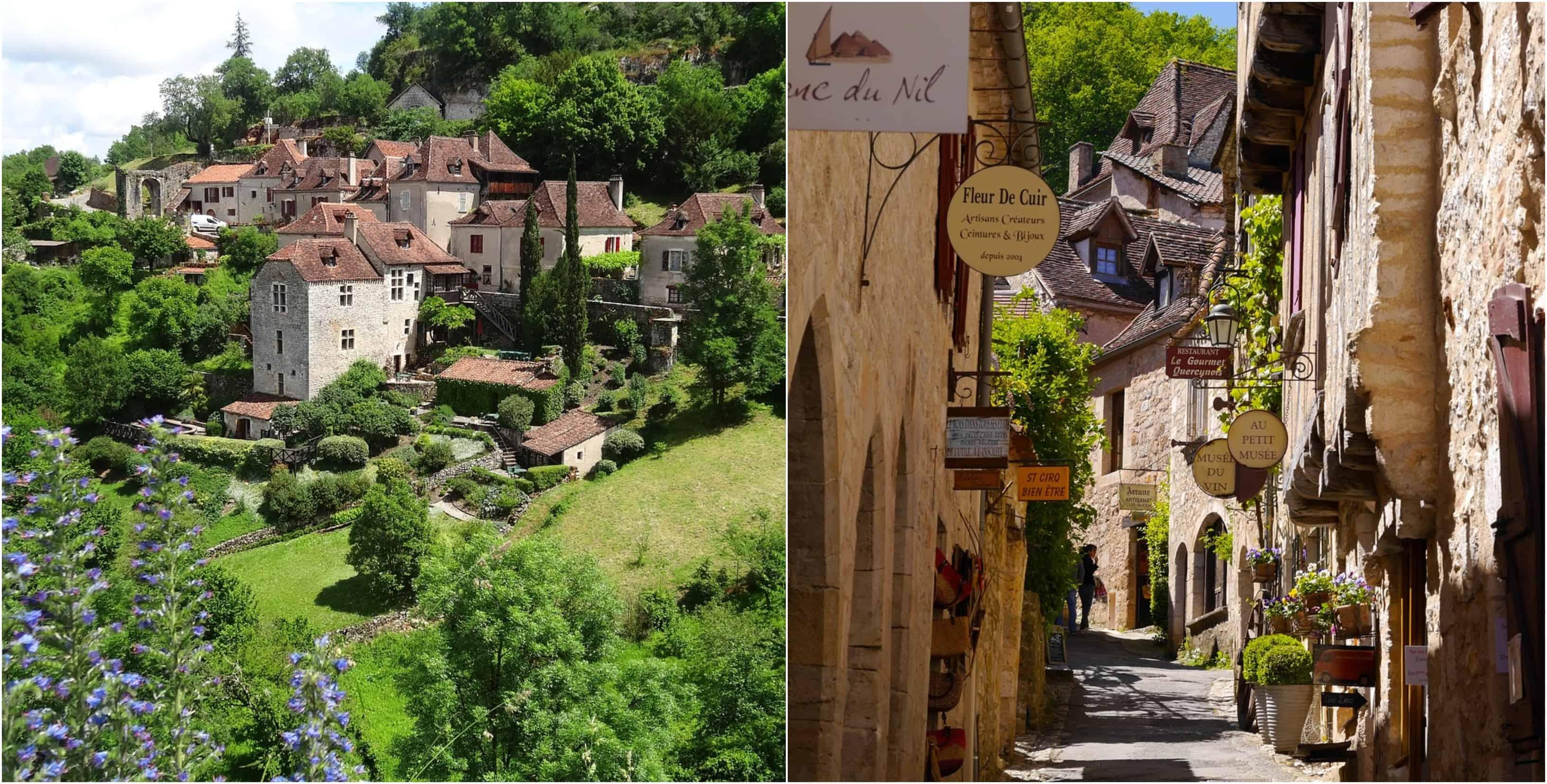 Saint-Cirq-Lapopie, een van de mooiste Franse dorpjes.