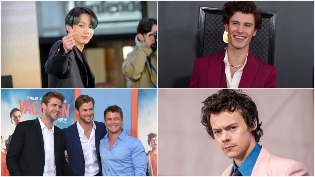Jungkook, Shawn Mendes, Hemsworth, Harry Styles
