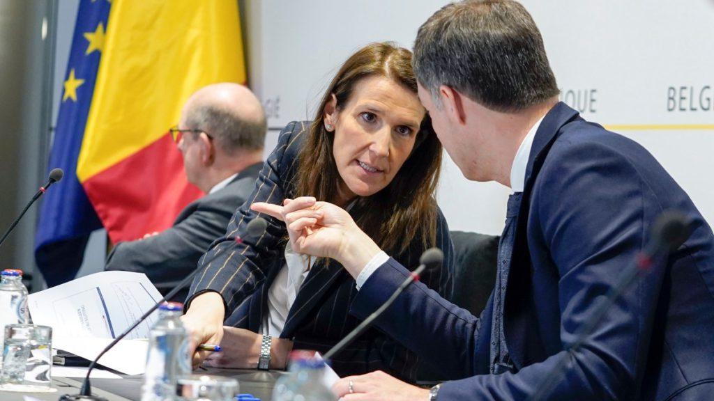 Sophie Wilmes (MR) en Alexander De Croo (Open Vld)