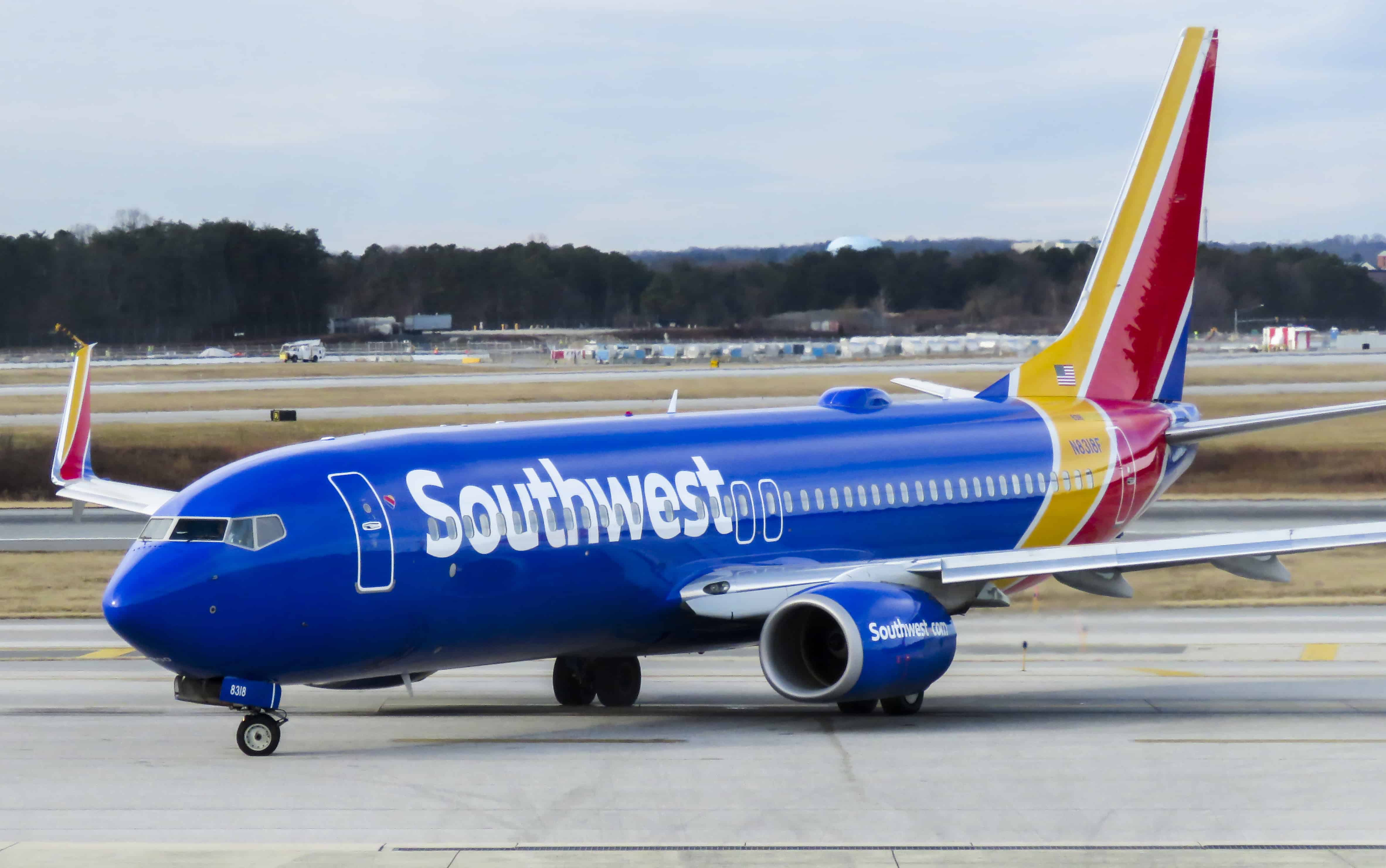 Un avion de la Compagnie Southwest Airlines