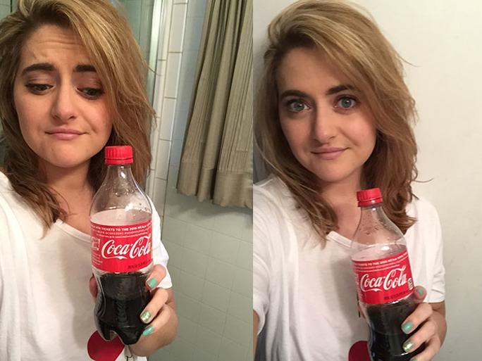 Dit gebeurt er als je je haar wast met Cola